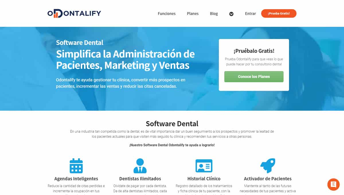 Software Dental SEO para Odontalify